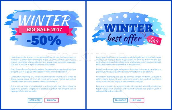 Tél vásár legjobb ajánlat felirat díszített Stock fotó © robuart