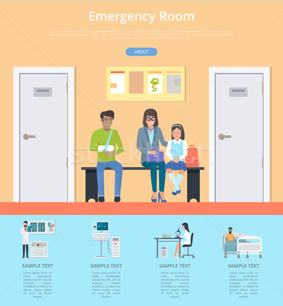 Emergency Room Description Vector Illustration Stock photo © robuart