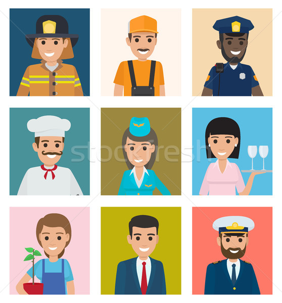Workers from Different Industries Portraits Set Stock photo © robuart