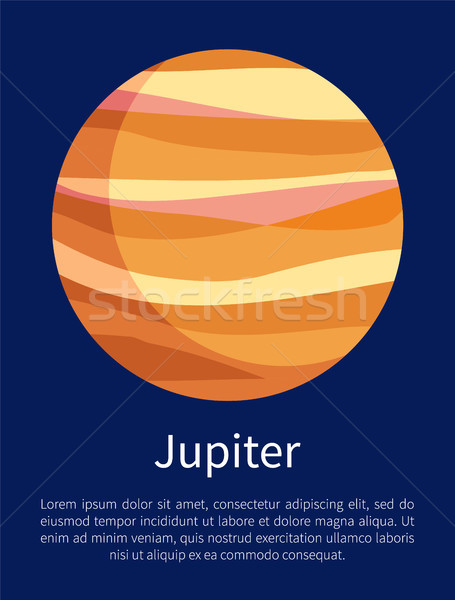 Jupiter Informative Vertical Poster with Text Stock photo © robuart
