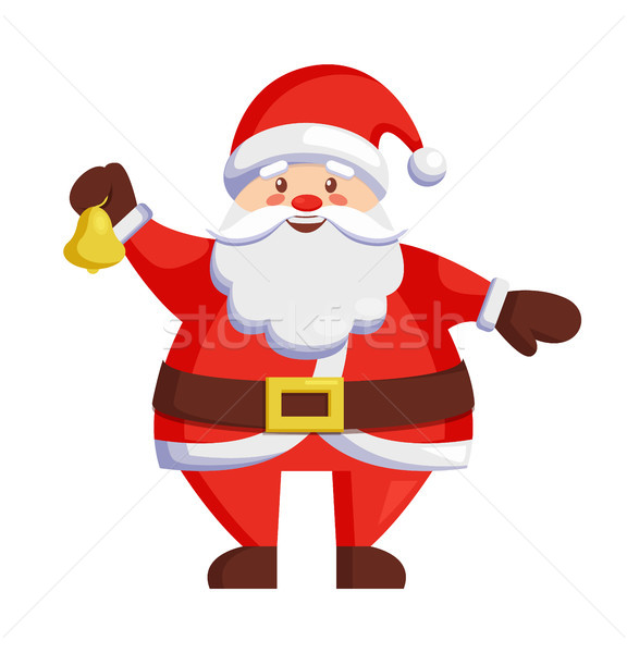 Santa Claus with Bell Icon Vector Illustration Stock photo © robuart
