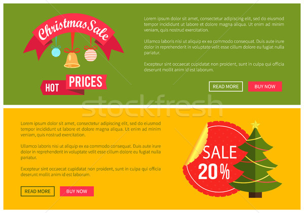 Hot Prices Christmas Sale 20 Buy Now Posters Stock photo © robuart