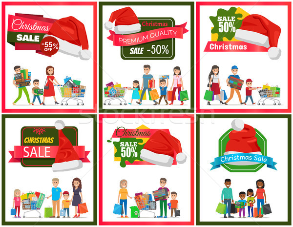 Establecer Navidad venta prima calidad banners Foto stock © robuart
