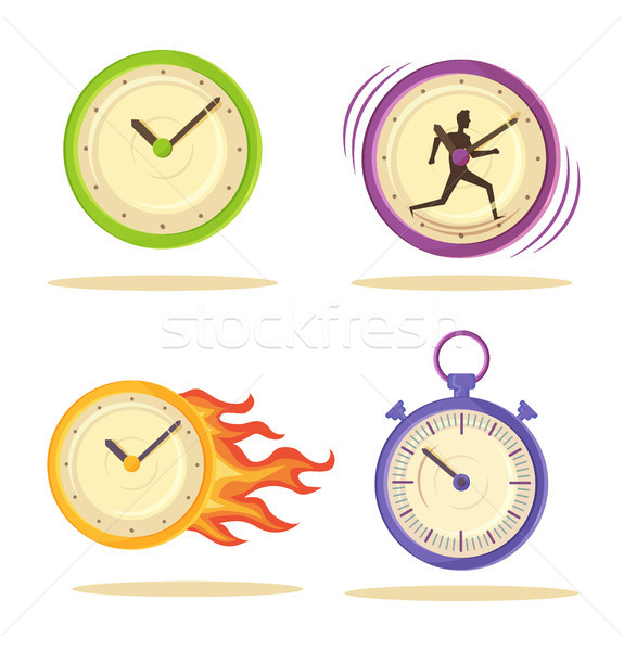 Set of Varied Watch Poster Vector Illustration Stock photo © robuart