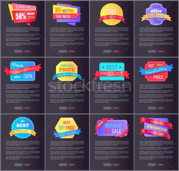 Hot Exclusive Sale, Price Premium Quality Posters Stock photo © robuart