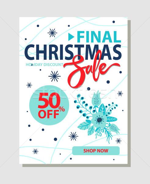 Finale Noël vente 50 promo Photo stock © robuart