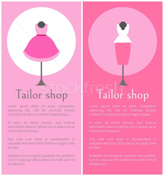 портной магазин плакатов вертикальный модный Сток-фото © robuart