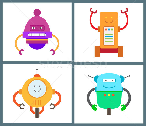 Robots Collection of Types Vector Illustration Stock photo © robuart