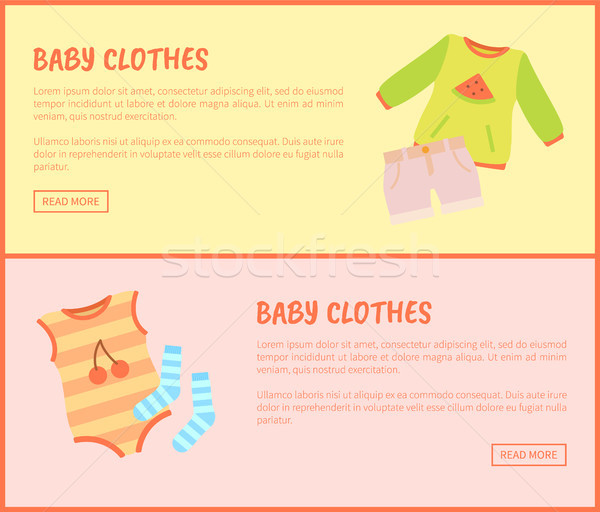 Baby Clothes Web Set of Pages Vector Illustration Stock photo © robuart