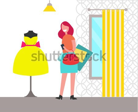 Son Greets Mother with Womens Day Illustration Stock photo © robuart