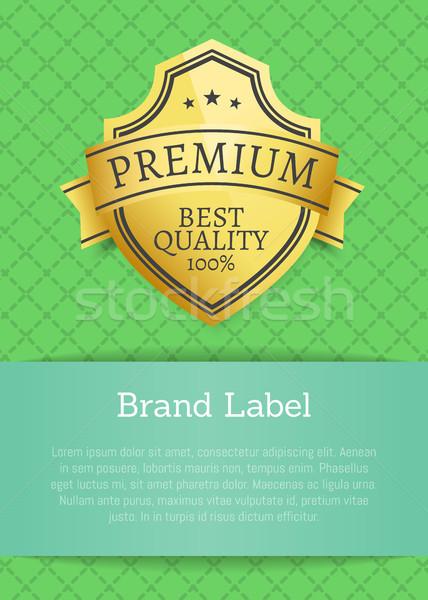 Brand Label Premium Best Quality 100 Golden Label Stock photo © robuart