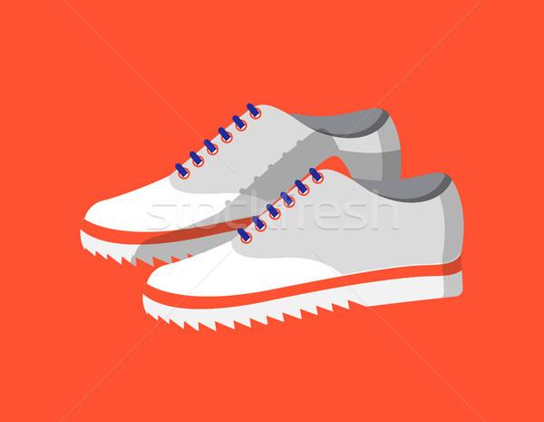 Cute мода обувь изолированный красный красочный Сток-фото © robuart
