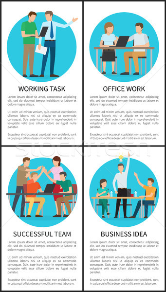 Business Idea and Working Task Vector Illustration Stock photo © robuart