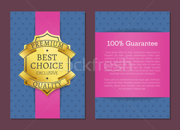 Premium Quality Product Golden Label and Banner Stock photo © robuart
