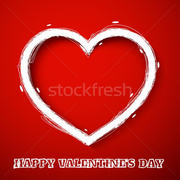 Valentines day draw heart Stock photo © robuart