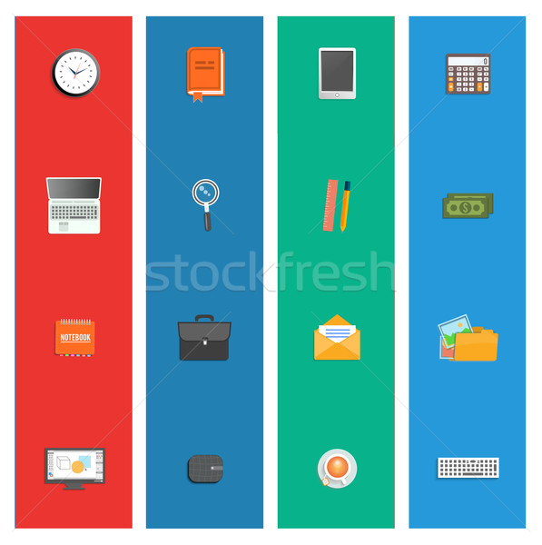 Szett különböző pénzügyi szolgáltatás üzlet vezetőség Stock fotó © robuart