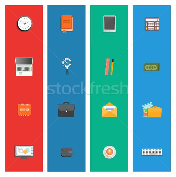 Set unterschiedlich finanziellen Service Business Management Stock foto © robuart