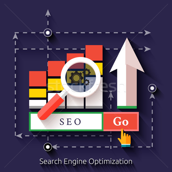 Seo search engine optimization, programming process Stock photo © robuart