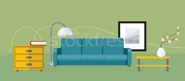 Zdjęcia stock: Meble · działalności · wnętrza · plakat · ikona