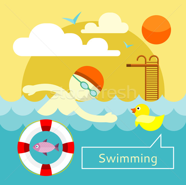Swimming Concept Stock photo © robuart
