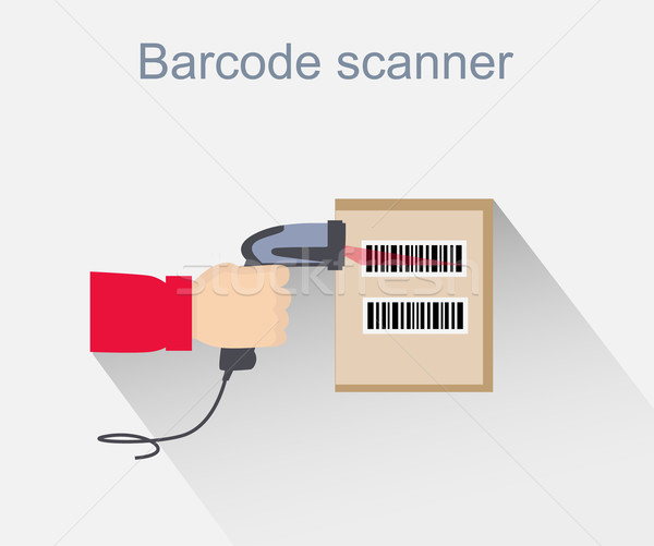 Barcode Scanner Icon Design Style Stock photo © robuart