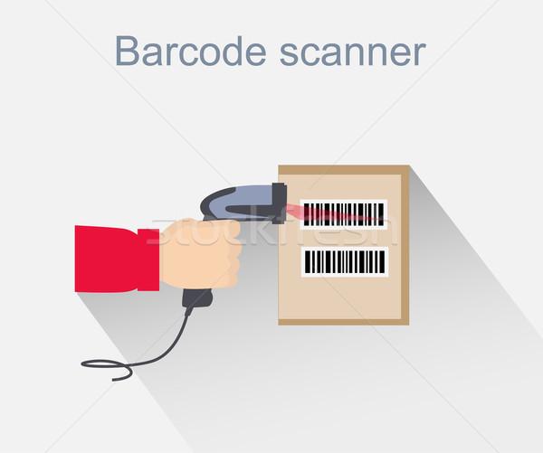 Código de barras escáner icono diseno estilo lector Foto stock © robuart