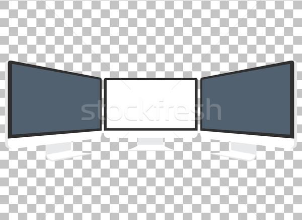 Stock fotó: Számítógépmonitor · izolált · kirakat · számítógép · fekete · képernyő