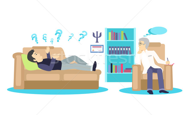 Psychologist Concept Icon Flat Isolated Stock photo © robuart