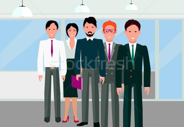успех команда линейный дизайна команде бизнес-команды Сток-фото © robuart