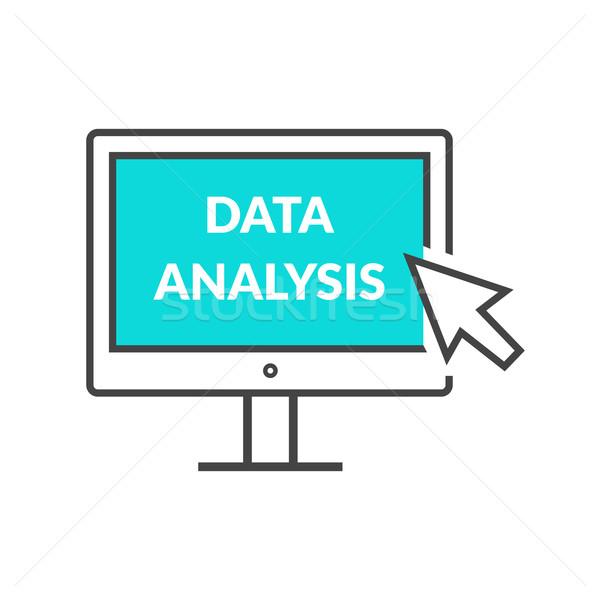 Marketing gegevens analytics statistiek grafiek analyse Stockfoto © robuart