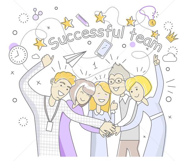 Successful Team People Design Flat Stock photo © robuart