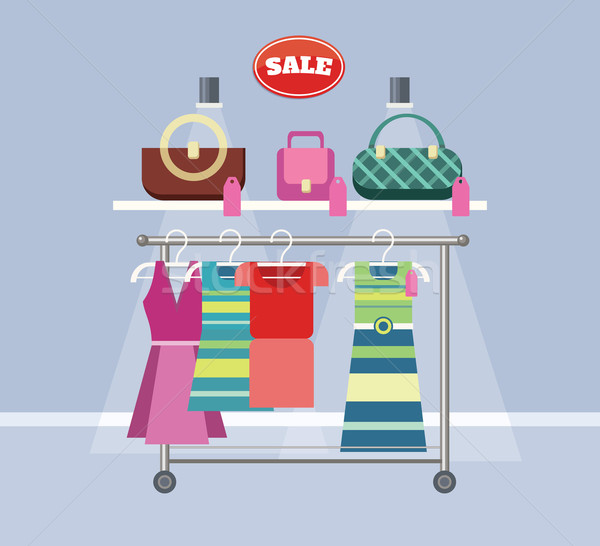 Sale Item Handbags and Clothing Stock photo © robuart