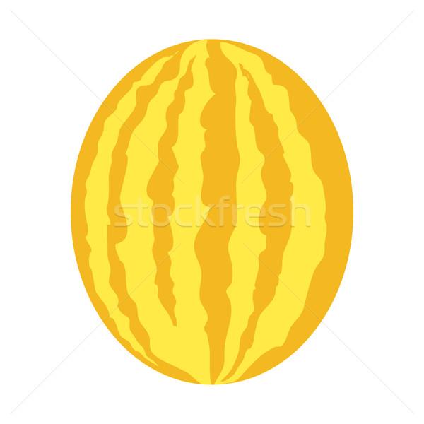 Melon style design jaune pastèque vecteur Photo stock © robuart