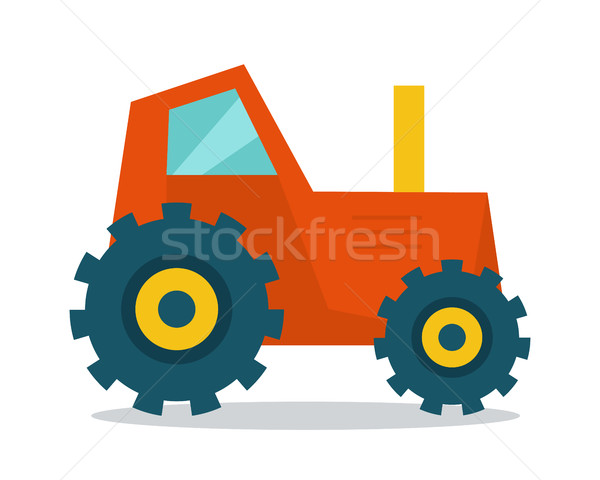 トラクター スタイル デザイン ベクトル ファーム 機械 ストックフォト © robuart