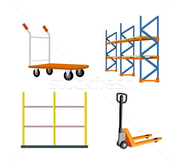 Set Of Warehouse Equipment Vector Illustrations Stock photo © robuart