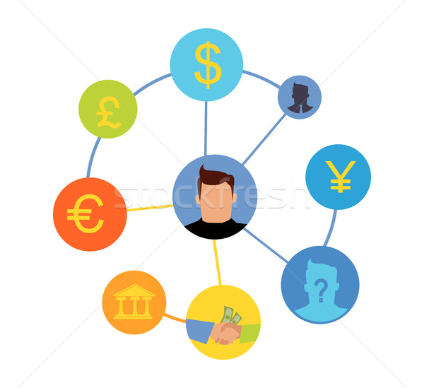 International Currency Exchange Vector Concept. Stock photo © robuart