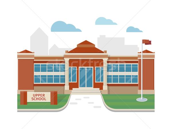 Meilleur école bâtiment vecteur style design Photo stock © robuart