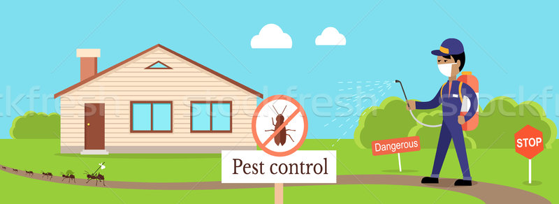 Pest Control Banner Stock photo © robuart