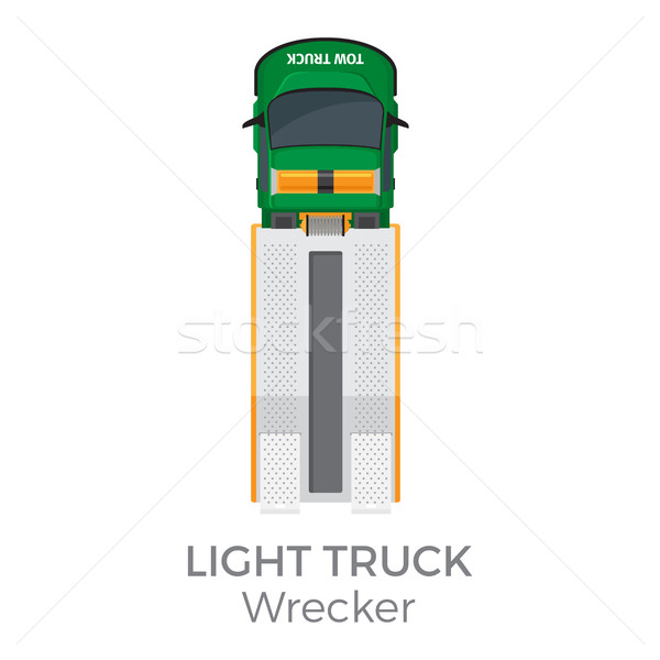 Wrecker Light Truck Top View Flat Vector Icon Stock photo © robuart