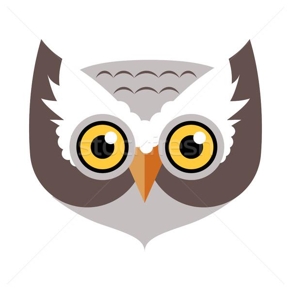 Chouette oiseau carnaval masque puéril élément Photo stock © robuart