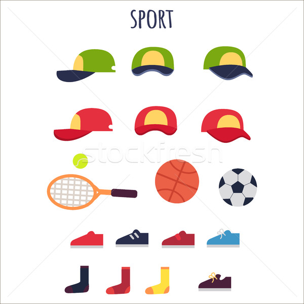 Sport Clothes and Equipments Vector Collection Stock photo © robuart
