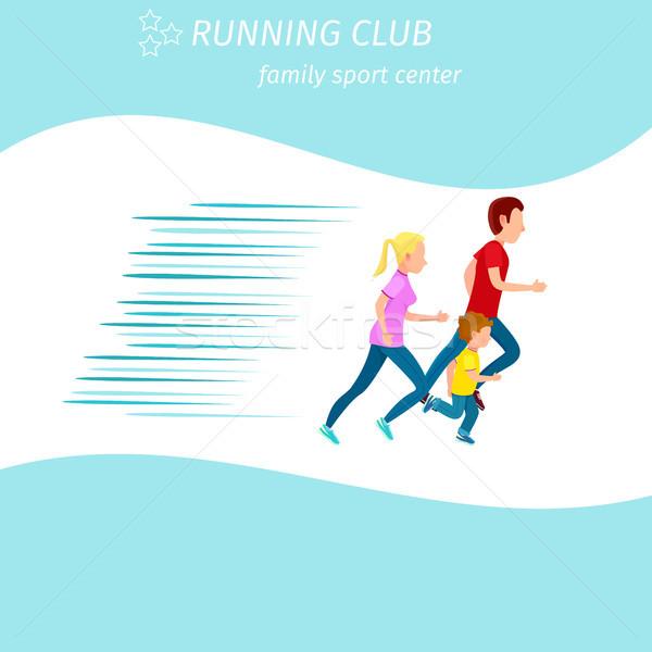 Aile spor çalışma kulüp sağlık Stok fotoğraf © robuart
