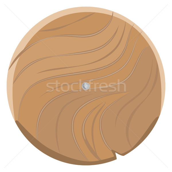 Wooden Board in Round Shape Isolated on White Stock photo © robuart