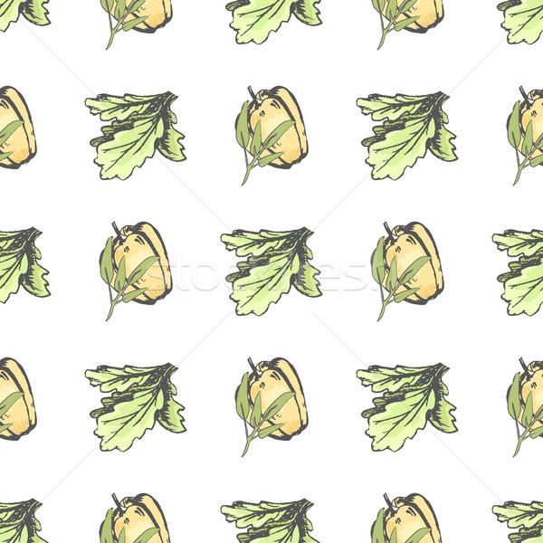 Sweet перец салата листьев изолированный Сток-фото © robuart