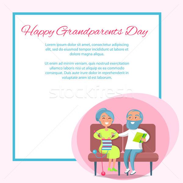幸せ 祖父母 日 座る 一緒に ストックフォト © robuart
