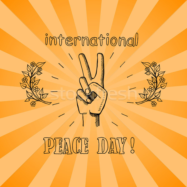 International Peace Day Poster 21 September 2017 Stock photo © robuart