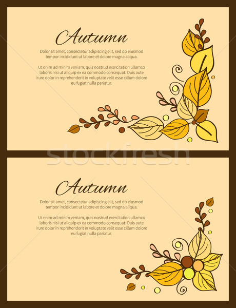 Autumn Season Greeting Card Decorated by Bouquet Stock photo © robuart