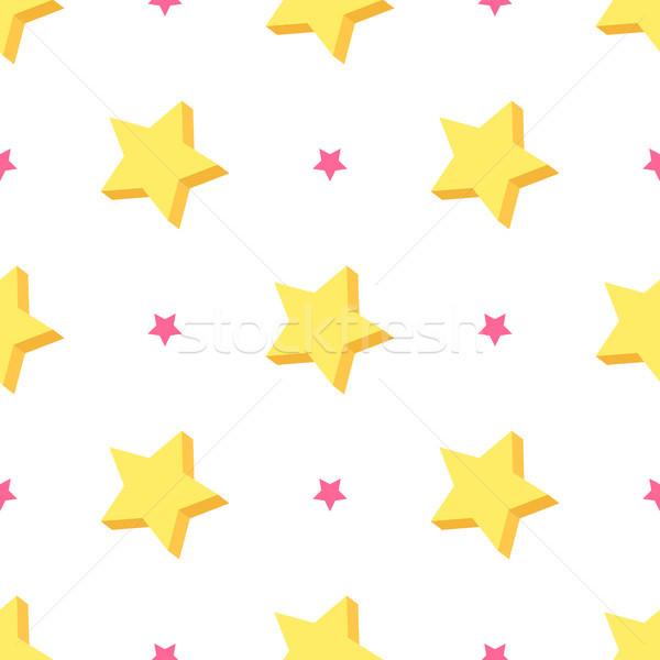 Starry Seamless Pattern Vector Illustration Stock photo © robuart