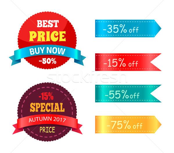Legjobb ár vegye meg most különleges ősz ajánlat százalék Stock fotó © robuart