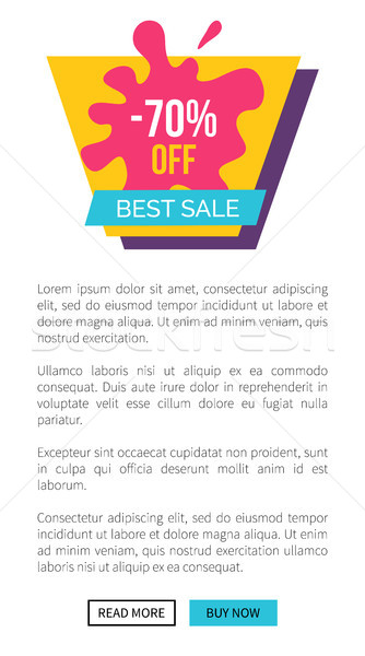 Best Sale 70 Off Sticker of Purple and Pink Colors Stock photo © robuart